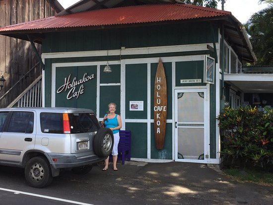 Holualoa, Hawaje: The espresso bar section of the restaurant was initially the local garage in the 1920s, check ou