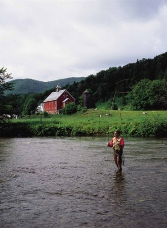 Rochester, VT: fishing in the White River