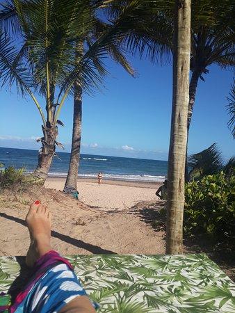 Restaurante do espanhol: Vista de la playa desde nuestro lugar de almuerzo