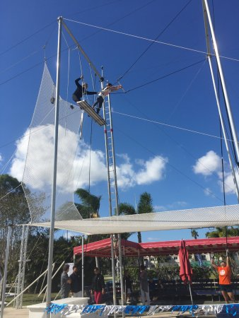 Port Saint Lucie, FL: My oldest practicing her trapeze skills!