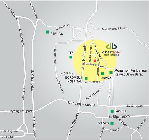 Map Guide Picture of dbest hotel Sofia Bandung TripAdvisor