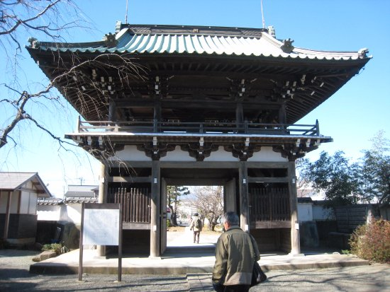Ebina, Japan: お寺の山門