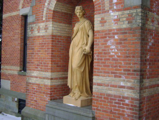 Bay City, MI: statue outside the main doors-forgot the name