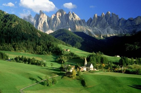 Dolomite Mountains and Cortina...