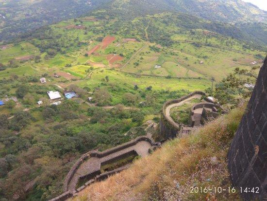 top view from lohagad picture of lohagad fort khandala tripadvisor
