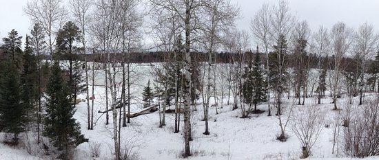 Ely, MN: Winter View from the Suites