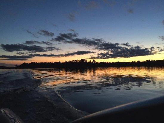 Ely, MN: Cruising Bear Island Lake at Sunset