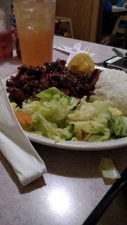 Tumwater, Etat de Washington : Teriyaki Pork with steamed rice