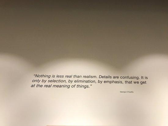 Edmonds, WA: I enjoyed the quote by Georgia O'Keefe.