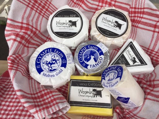 Woombye, Australia: yummy cheese take-home picnic packs