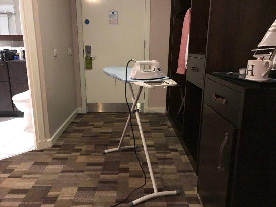 Kilsyth, UK: very low down ironing board