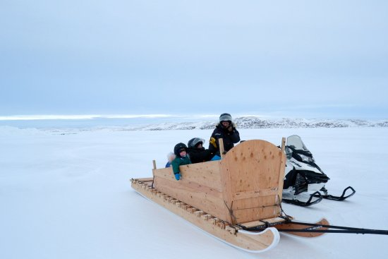 Iqaluit, Canada: Ice Ice baby, toddlers cuddled in fur cushions