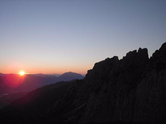 Jenig, Autriche : Sonnenuntergang