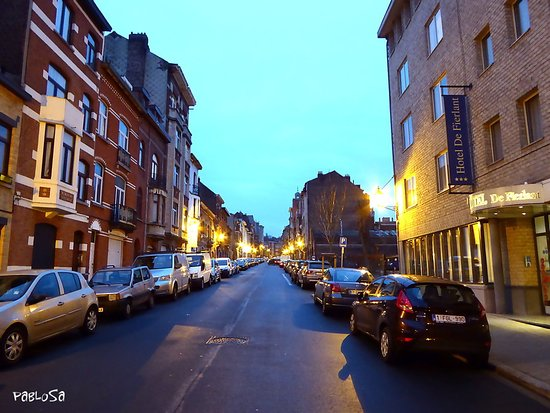 Hotel de Fierlant : Η οδός Fierland με το ξενοδοχείο.