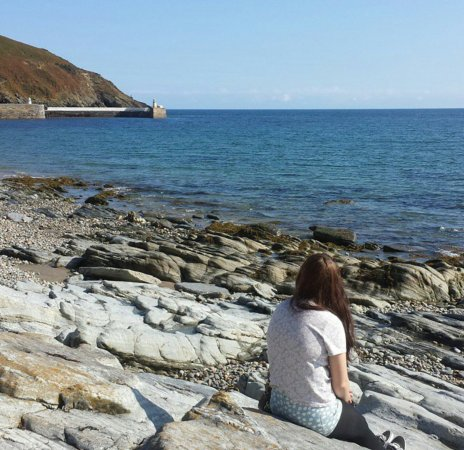 Laxey, UK: A view from the beach