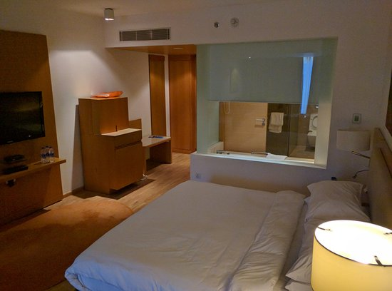 Radisson Blu Plaza Hotel Hyderabad Banjara Hills: Outlets, Lights, Next To  King Bed