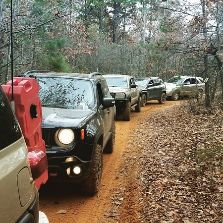 Gilmer, TX: Leading some new offroaders on the trails.