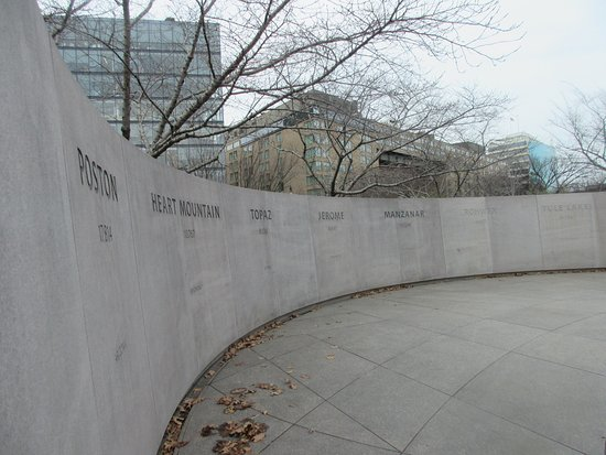 National Japanese American Memorial: Names of 10 internment sites in the U.S.
