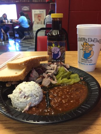 Eufaula, AL: Best seller, chopped plate with some of the best BBQ Beans I've ever had.