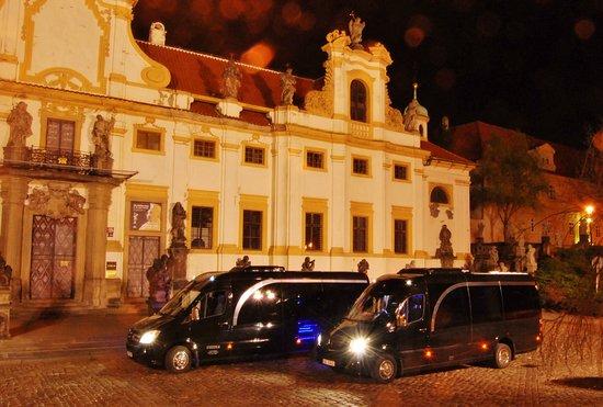 Prague, Czech Republic: Black Line Coaches car fleet