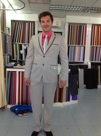light grey suit with pink shirt - Picture of Monty The Tailor ...