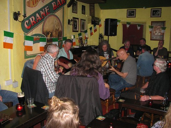Another group of musicans at the Crane Bar