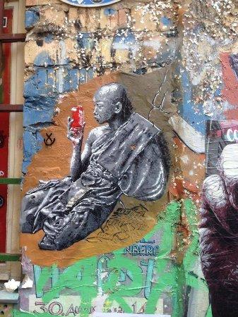 "Alternative Berlin Tours: One of the street art paintings at ""Hackescher Markt"""