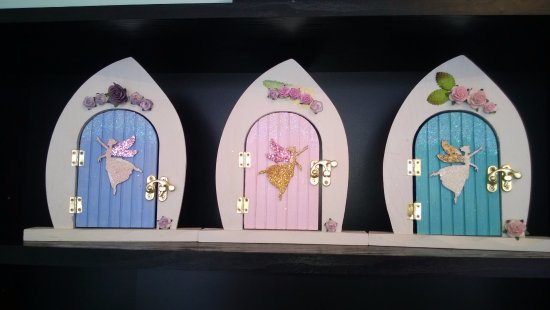 Colwyn Bay, UK: Fairy doors for that little girl's magical room