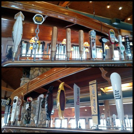 Rice Lake, WI: We have more 20 tap beers for you to choose from our new bottoms up beer system!