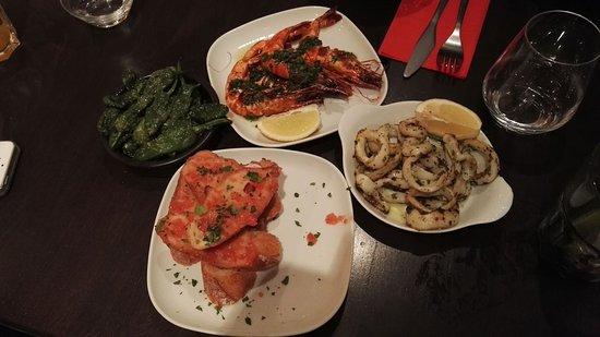 Le P'tit Barcelone: calamars, gambas, tartines