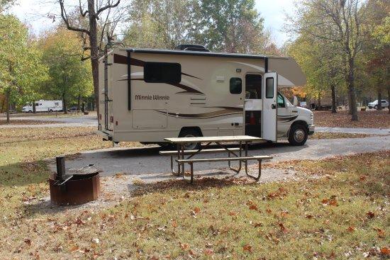 Fort Massac State Park: My campsite.