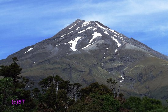 New Plymouth, Yeni Zelanda: magnificent Mt Taranaki