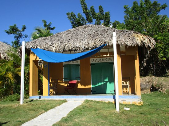 Marigot, Haiti: Front aspect and porch of a bungalow