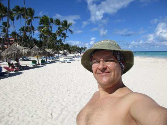 Bavaro Hostel: Me on the lovely beach nearby
