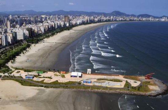 Santos, SP: vista aerea