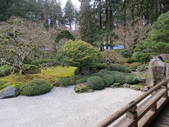 Portland Japanese Garden: The Large Gravel Garden Displaying Various  Seasons Of The Year
