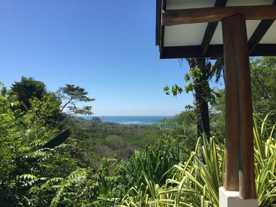 Mal Pais, Costa Rica: View from the shower in Villa Palma.