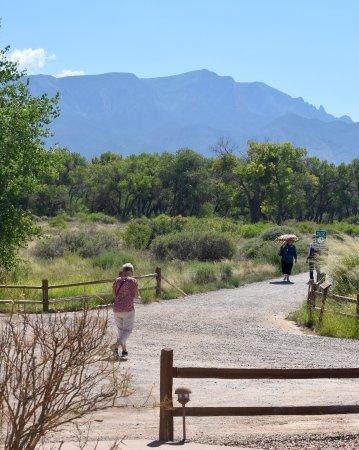 Santa Ana Pueblo, NM: Entrance to walking trail