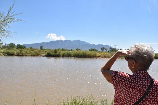 Santa Ana Pueblo, NM: Rio Grande River on walking trail