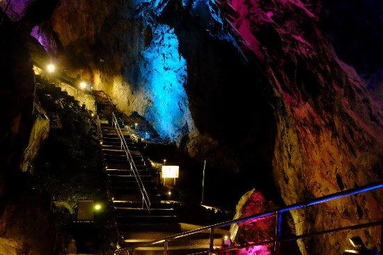 Okutama-machi, Japan: 日原鍾乳洞 広間 ライトアップ