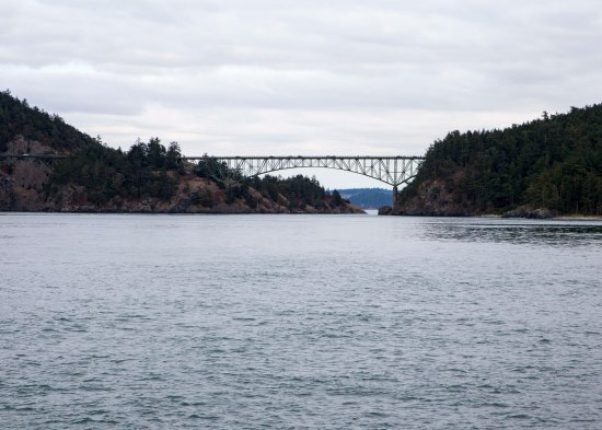 Oak Harbor, WA: the view of the bridge from the park
