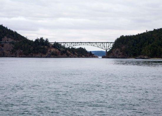 Oak Harbor, Вашингтон: the view of the bridge from the park