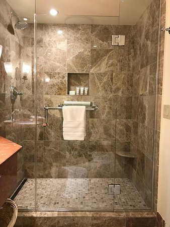 new luxurious showers - Picture of Monterey Plaza Hotel & Spa ...