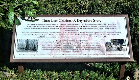 Musk, Austrália: Three Lost Children - A Daylesford Story  [January 2017]
