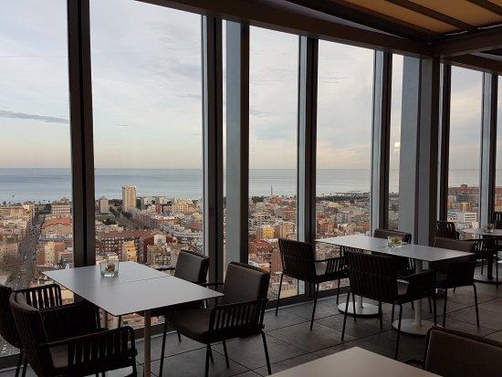Breakfast Room overlooking Barcelona and the Sea