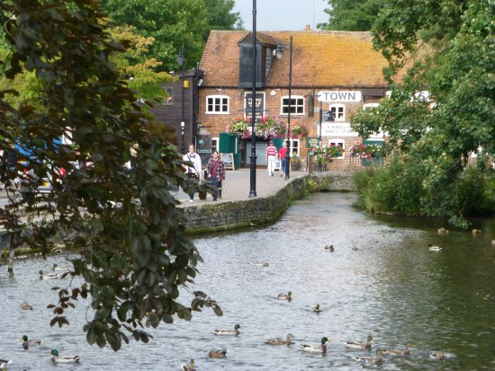 The Star & Garter: River Anton in town area, just short distance from Hotel.