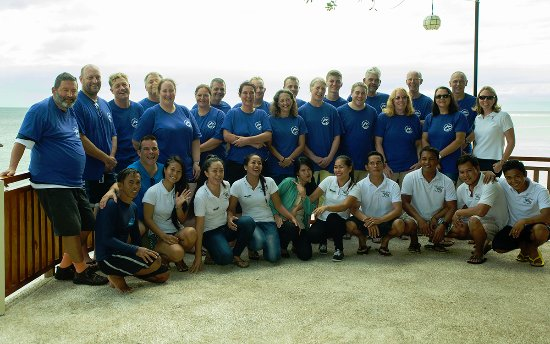 Magic Island Dive Resort: Our group and staff