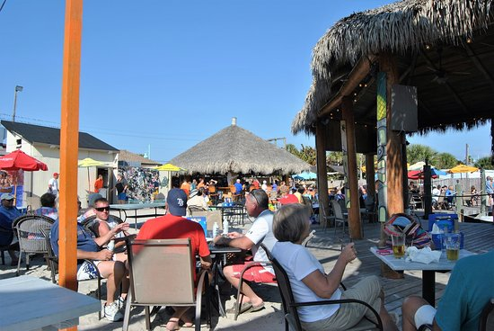 Happy Hour outside at Flounder's. - Picture of SandBar ...