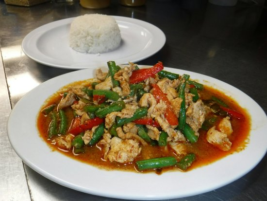 Pad prik king chicken picture of sweet basil thai for 22 thai cuisine new york ny