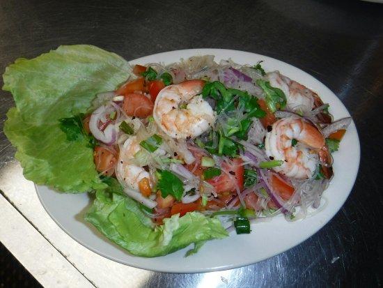 Liberty, NY: Yum Woonsen shrimp